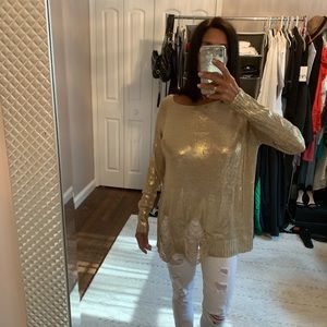 Rehab pale gold tunic